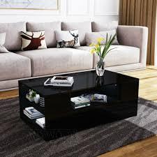 coffee tables modern black high gloss
