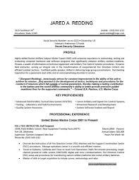 It Resume Examples Resumess Memberpro Co Marine Corps Military Sa