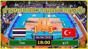 ถ่ายทอดสดวอลเลย์บอลหญิง ไทย VS ตุรกี เนชันส์ลีก VNL2021(06/06/2021) |  ข่าวดี ถ่ายทอดสดวอลเลย์บอลวันนี้ช่อง 33 ดีที่สุด - CASTU