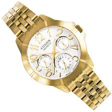 citizen gold big numbers analog womens watch ed8102 56a