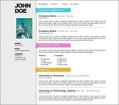 Cv Word Template Download