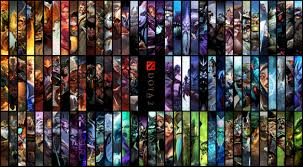 dota 2 hd wallpaper edited to include all heroes imgur