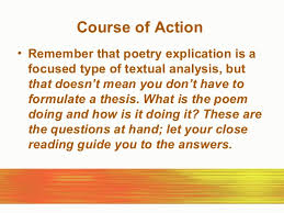 poetry explication 10 course of action bull remember that poetry explication