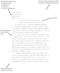 Mla Format Essay Generator Formatting For Essays Example Examples Of