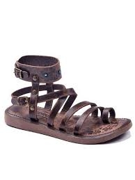 metallic brown gladiator sandals
