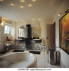 recessed ceiling lights in black white