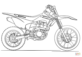 Honda Dirt Bike coloring page | Free Printable Coloring Pages