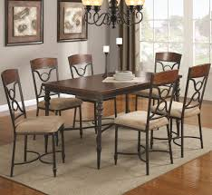 klaus cherry metal and wood dining table set metal wood dining clic metal dining room tables