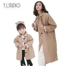 family matching outfits mother and daughter long sleeve jackets mommy and me baby girl winter clothes