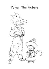 Have fun discovering pictures to print and drawings to color. Son Goku And Gohan From Dragon Ball Z Coloring Pages Worksheets For First Second Third Fourth Fifth Grade Art And Craft Worksheets Schoolmykids Com