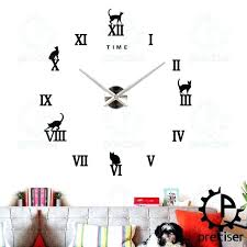 vintage wall letters time letters decor vintage wall clock large mirror sticker metal big watches home