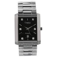 caravelle by bulova diamond accented black dial men s watch 43d003 caravelle by bulova diamond accented black dial men s watch 43d003