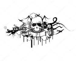 Gothic Skull Design Gothic Skull Design Stock Photo B14ckminus 118037392