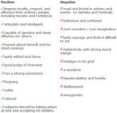 Hamlets Good And Bad Characteristics A Level English