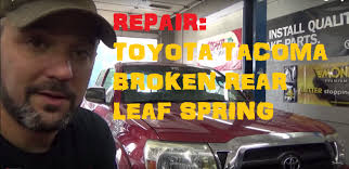 Replace Broken Rear Leaf Spring - Toyota Tacoma - YouTube