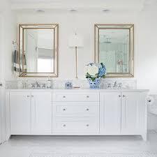 Gold Beveled Beaded Bath Vanity Mirror Design Ideas