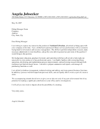 Librarian Cover Letter Sample Library Cover Letters Resume Sample