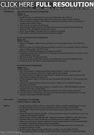 Electrical Maintenance Supervisor Resume Resume Work Template