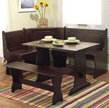 Kitchen: Appealing Kitchen Table Nook Set With Bench And Striped Rug - Kitchen  Table Sets