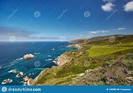 Pacific Coast Landscape Design Inc Pacific Coast Landscape In California Stock Photo Image Of