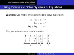 solve system of equations matrix mathcad mathematica solving systems linear with matrices