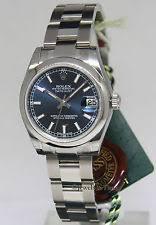 rolex datejust 31 178240 wrist watch for women rolex datejust steel blue dial midsize ladies watch box tags nos 178240