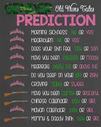 Gender Wives Tales Chart Gender Predictions Old Wives Tales Chalkboard By