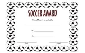 soccer awards templates soccer certificate template the best template collection