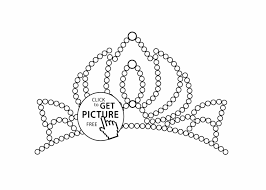 Small Picture Free Printable Princess Crown Coloring Page Rapunzel With Crown