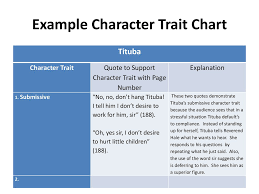 Example Character Trait Chart Ppt Download