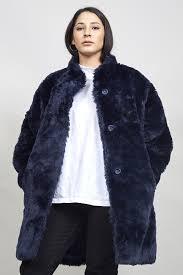 vintage 80 s super oversized midnight blue faux fur coat