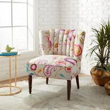 pattern furniture. Silver Orchid Tori Floral Pattern Channel Back Accent Chair Furniture