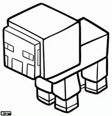 Small Picture A Minecraft sheep coloring page aww Pinterest Sheep
