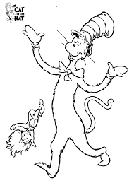 Small Picture Dr Seuss The Cat in the Hat Coloring Pages 2 classroom