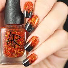 Halloween ~ Halloween Gradient Nails Fingernails Nail Art Ideas ...
