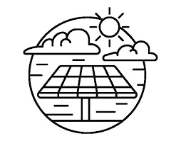 Colouring Pages Of Save Electricity Solar Energy Coloring