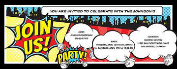 superheroes party invites invitations free ecards and party planning ideas from evite