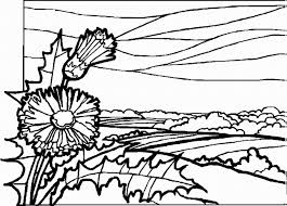 Small Picture Landscape coloring pages with flower ColoringStar