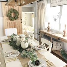 farmhouse dining room fall decor ideas