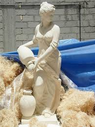 garden sculptures made of natural stone