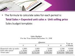 Sales Budget Template Sales And Production Budget