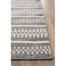 network rugs melodee grey hand woven flatweave wool rug