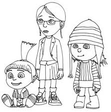 Small Picture Despicable me girls coloring pages ColoringStar