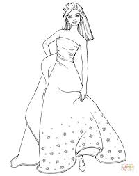 Beautiful Barbie Coloring Page Free Printable Coloring Pages