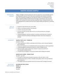Job Description Of A Barista For Resume cv barista Thebeerengineco 41
