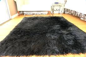 faux mongolian fur rug