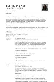 Hr Business Partner Resume Samples Visualcv Resume Samples Database