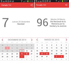 Calendario 2015 Argentina Calendario De Feriados De 2015 En Una App Para Android