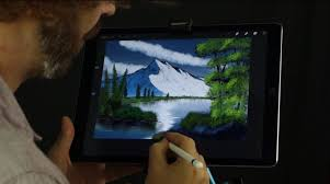 bob ross tribute shows the joy of painting on ipad pro
