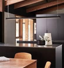 ledlux strix led 2400 lumen dimmable pendant in black